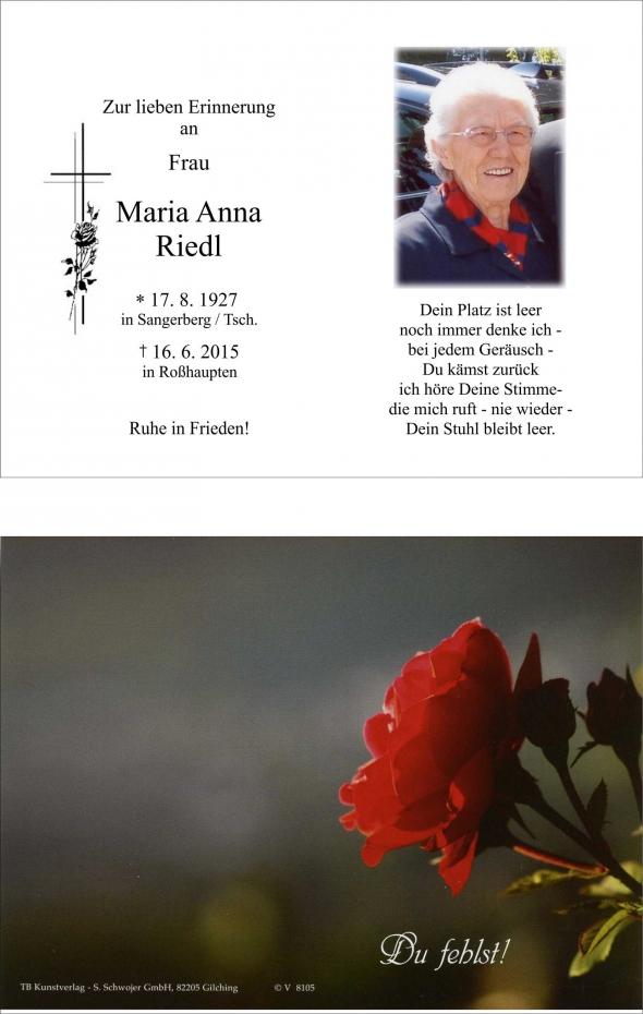 Maria Anna Riedl