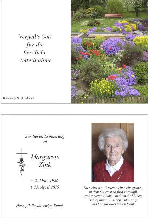 Margarete Zink