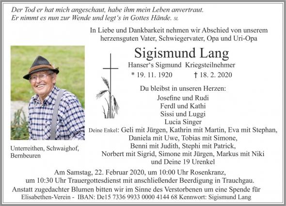 Sigismund Lang