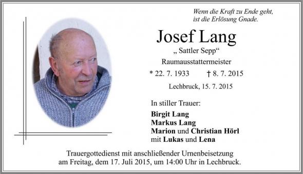 Josef Lang
