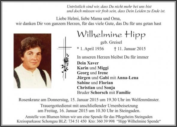 Wilhelmine Hipp