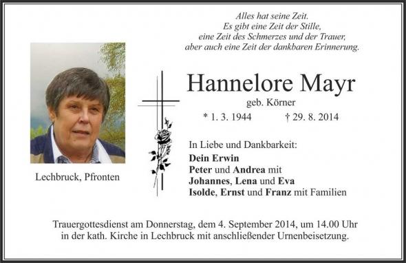 Hannelore Mayr