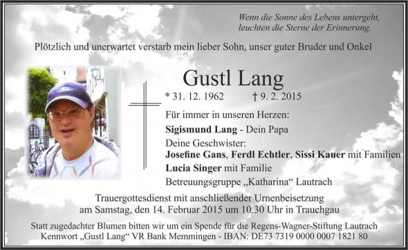 Gustl Lang