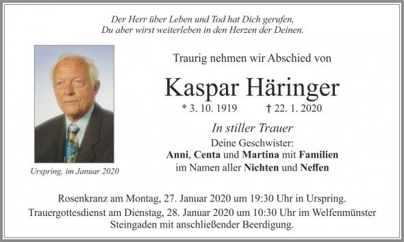 Kaspar Häringer