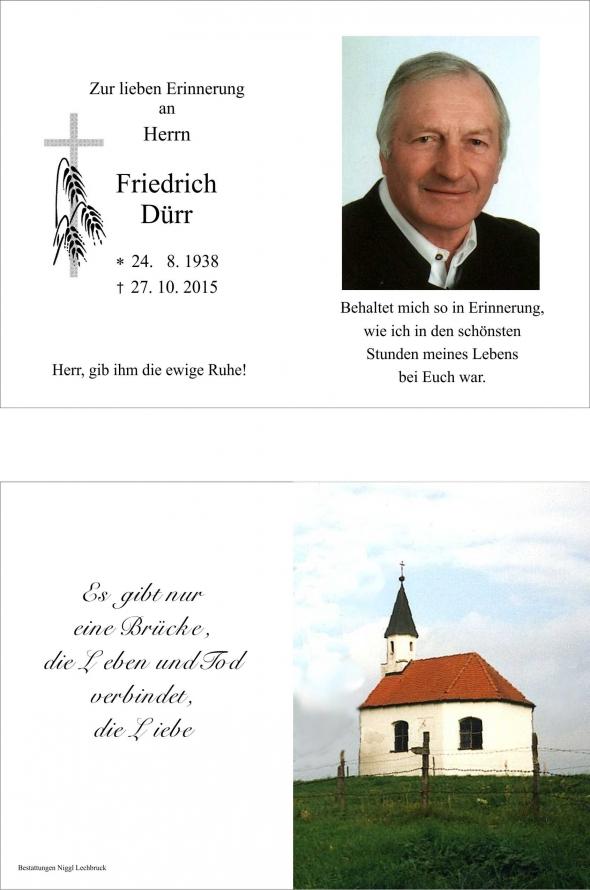 Friedrich Dürr