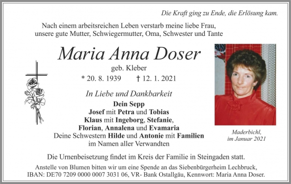 Maria Anna Doser