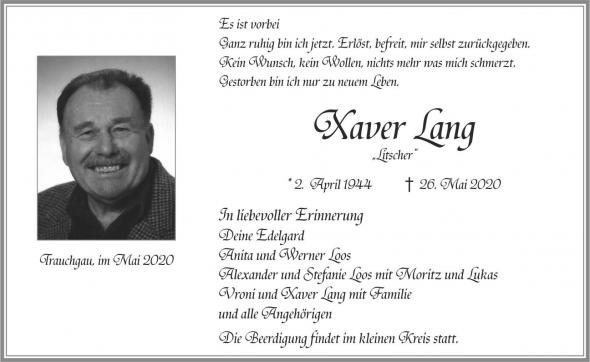 Xaver Lang