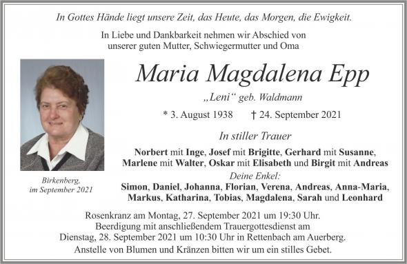 Maria Magdalena Epp