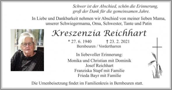 Kreszenzia Reichhart