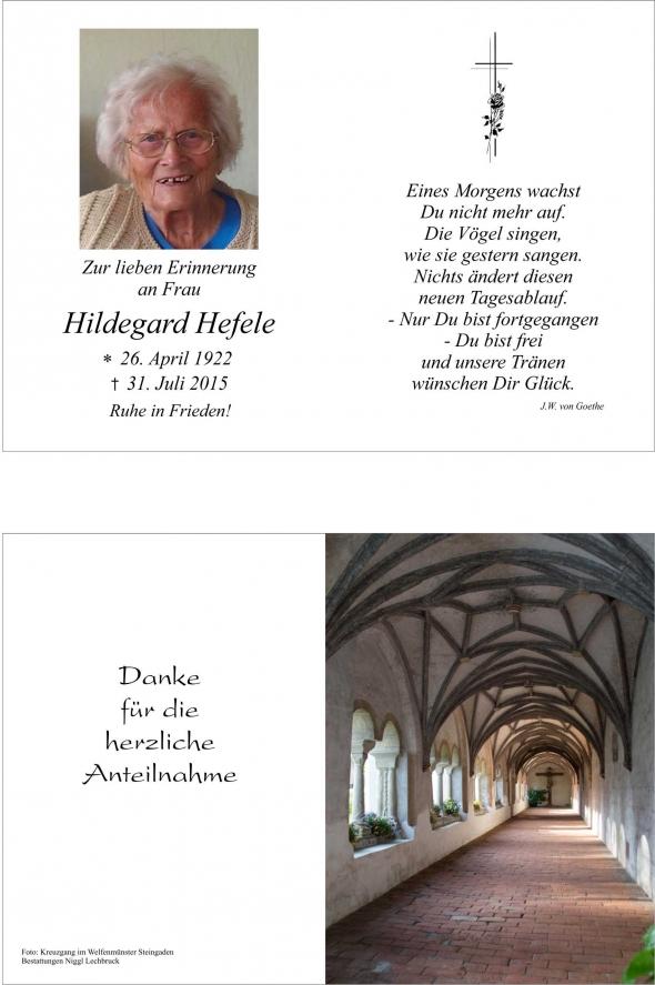 Hildegard Hefele